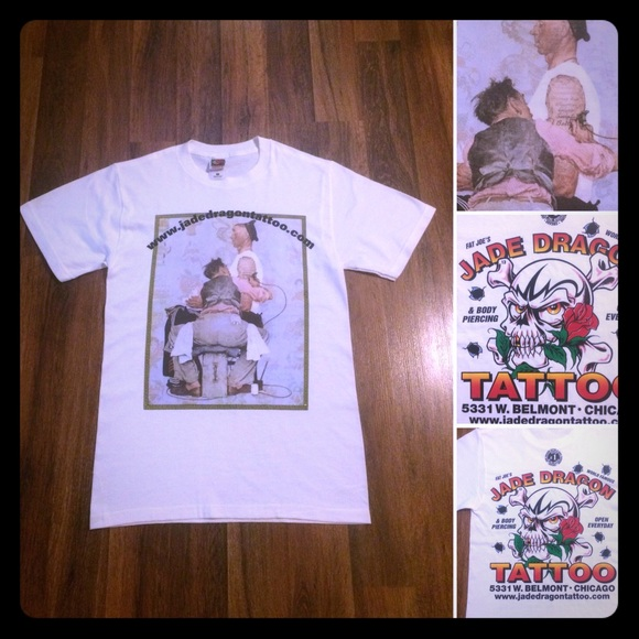 210 Or 520 Jade Dragon Tattoo Shop T Shirt